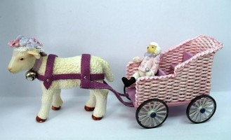 Lamb with Toy Cart