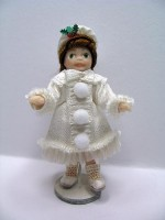Christmas Toy Doll in White