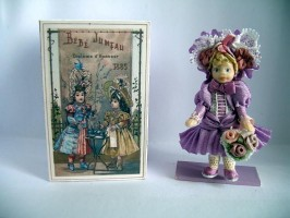 Jumeau Toy Doll in Wooden Trunk Kit