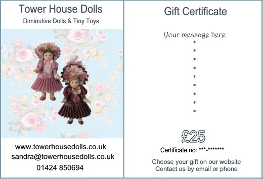 Gift Certificate - £25 - Click Image to Close